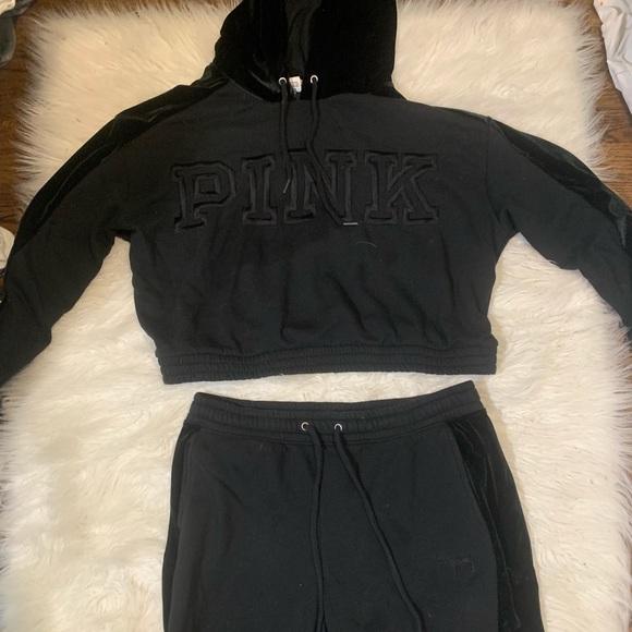 PINK Victoria's Secret Other - pink black velvet outfit 🖤